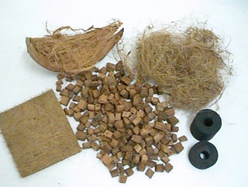 Various Products From Coconut Husk